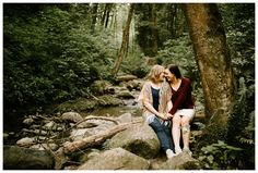 Couples photos on the Lower Macleay trail in Forest Park in Portland, Oregon by Katy Weaver Photography