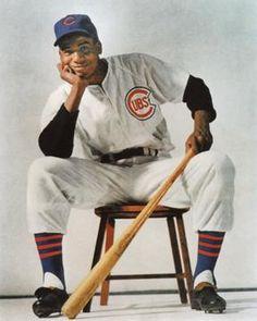 November 1959 Ernie Banks, Chicago Cubs shortstop, wins the National League MVP. Chicago Cubs Fans, Chicago Cubs Baseball, Baseball Photos, Baseball Cards, Baseball Tickets, Chicago Cubs History, Espn Baseball, Baseball Scoreboard, Baseball Uniforms