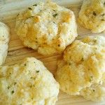 Cheddar and Herb Biscuits. I used all butter instead of shortening and added Salad Supreme to the melted butter instead of garlic.