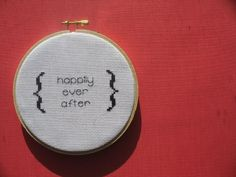 Happily Ever After Cross Stitch by jacqueline | weelittlestitches, via Flickr