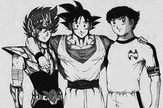 Caballeros del zodiaco, Goku (Dragon Ball Z), Oliver Atom (Super Campeones).....our childhood was awesome!