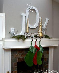 52 Mantels: Christmas Mantel: Joy & Peace!