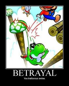 Yoshi! :( I'm going to be sad whenever I lose you. Sadly, this picture is still funny.
