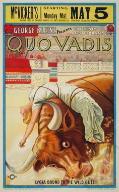 Quo Vadis / G.C.K. Poster / My Birthday: May 5 Que Coincidencia! http://www.printcollection.com/print/1715