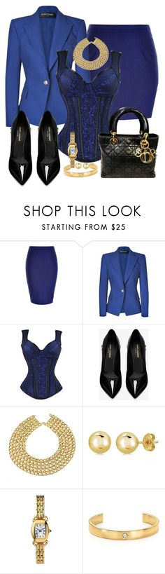 """""""ELEGANTE"""" by alice-fortuna ❤ liked on Polyvore featuring City Chic, Balmain, Yves Saint Laurent, Chanel, BERRICLE, Jules Smith and Christian Dior"""