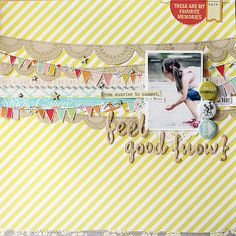#papercraft #scrapbook #layout layered banners