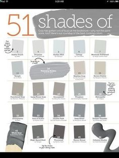 4426898383426724789587 51 Shades of Gray Paint Part I Too late for us, we chose Grey Owl. Love it!