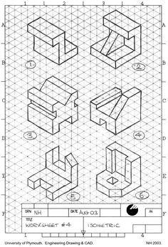 Isometric Drawing Exercises cakepins.com