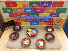 Simple phonic activity. Sorting items by initial sound.