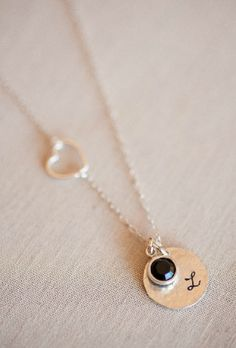 personalized necklace with a charm