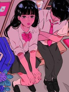 Art Kawaii, Arte Do Kawaii, Art Anime Fille, Anime Art Girl, Pretty Art, Cute Art, Aesthetic Art, Aesthetic Anime, Bel Art