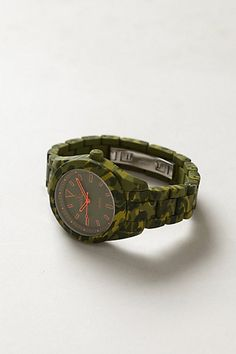 I WANT THIS WATCH!!! Textured Camo Watch. #accent #watch