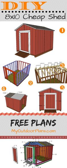 This step by step diy project is about cheap shed plans. I have designed this small shed so you can use it for basic store. This is not a fancy shed that requires thousands and thousands of dollars to make, but a super basic utility shed that ca
