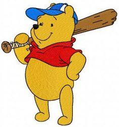 Pooh plays baseball