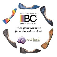 Pick your favorite from the color-wheel. Visit http://www.brandcentral.pk/reefland-collection
