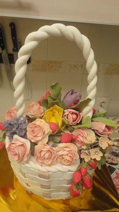 Торт корзина с цветами / Basket with flowers. Cake - YouTube