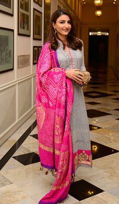 d3e9c3e98a Soha Ali Khan in Maheka Mirpuri ensemble. Soha Ali Khan Wedding, Indian  Clothes,