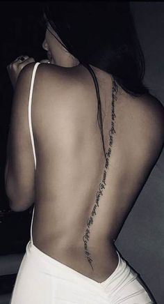 Spine Tattoo Designs that Cool You to the Bone. Best Ever Spine Tattoo Designs that Cool You to the Bone. Cool and Amazing Back Tattoo Designs You Want to Show F In Band Tattoos, Ribbon Tattoos, Body Art Tattoos, Girl Tattoos, I Tattoo, Tattoo Quotes, Fashion Tattoos, Cross Tattoos, Flower Tattoos