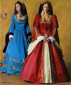 McCalls Costume Sewing Pattern 3282 - Tudor Dresses (12-16) via Etsy