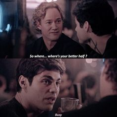 """[edit] (3x06) Can we talk about the fact that Underhill refers to Magnus as Alec's """"better half"""" ? Bitches tell me again that Alec will…"""