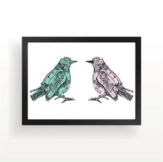 Gear Love Bird Art Print by theminifab on Etsy