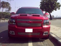 Custom red chevy avalanche