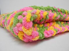 Knitted Baby Blanket  Posies by PolkaDotKreations on Etsy, $40.00