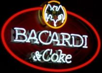 Bacardi And Coke Handmade Art Neon Sign