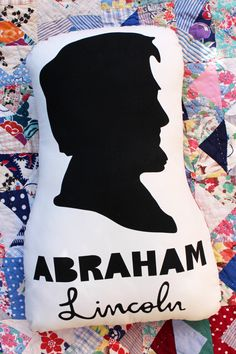 Heads of State Pillows: Abraham Lincoln by TobieWahl on Etsy