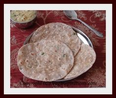 Potato Roti- Indian flat bread with whole wheat flour and potatoes