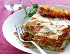 Ultimate Vegan Lasagna (modified: add mushrooms, use 2 pkg veggie ground, chard; only blend tofu+cream cheese+nutr. yeast, keep all else chunky; 1 jar pasta sauce mixed with half jar water; 1 big pan+1 8x8 pan)