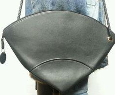Bar Harbor Large TRIANGLE Black Leather Shoulder Handbag Purse UNIQUE!  | Clothing, Shoes & Accessories, Women's Handbags & Bags, Handbags & Purses | eBay!