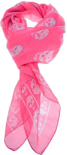 We LOVE anything skulls!!  Pink Skulls scarf