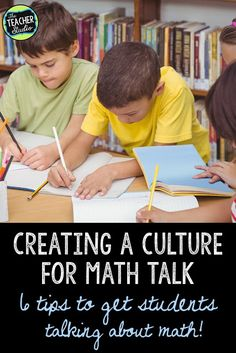 Creating a classroom culture where math talk and discourse is prevalent takes work! Check this post for tips on incorporating more math talk, growth mindset, and other culture-building pieces to help students learn and talk math! Fourth Grade Math, Second Grade Math, Teaching Activities, Teaching Math, Teaching Ideas, Math Literacy, Accountable Talk, Math Talk, Common Core Curriculum