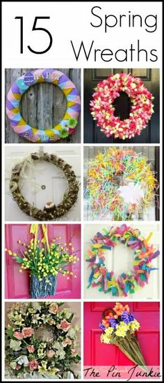 15 DIY Spring Wreath