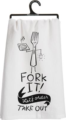 Item # 25527 | Tea Towel - Fork It | Primitives by Kathy