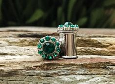 Hey, I found this really awesome Etsy listing at https://www.etsy.com/uk/listing/180445097/tiny-emerald-green-rhinestone-plugs