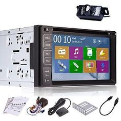 Amazon.com : Rear Camera Included 2014 New Model 6.2-Inch Double-2 DIN In Dash Car DVD Player Touch screen LCD Monitor with DVD/CD/MP3/MP4/USB/SD/AM/FM/RDS Radio/Bluetooth/Stereo/Audio and GPS Navigation SAT NAV Wall Paper exchange HD:800*480 LCD+Windows Win 8 UI Design Free GPS Antenna+Free GPS Map+Free Backup Camera : Electronics