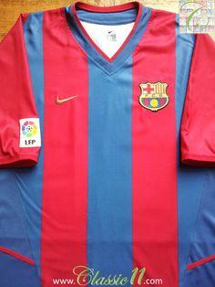 Relive Barcelona's 2002/2003 season with this vintage Nike home football shirt.
