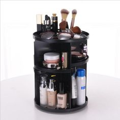 Rotating 360 Degree Makeup Organizer-cosmetics storage beauty product holder-The Exceptional Store