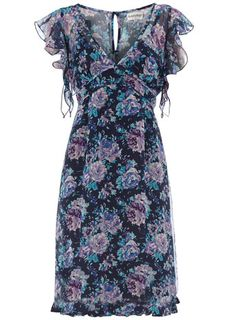 Navy floral 2 in 1 dress - Dresses -  € 24,00  - Sale & Offers