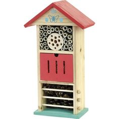 Get your little ones in the garden with this fun Bug Hotel from Vilac. A great way to start an outdoor project and look for all the bugs you can find outdoors. Comes in light Blue & red colours so looks great in any garden or outdoor space. Articles En Bois, Shop Press, Outdoor Projects, Outdoor Decor, Flag Garland, Bug Hotel, Mud Kitchen, Retro Kids, Kids Running