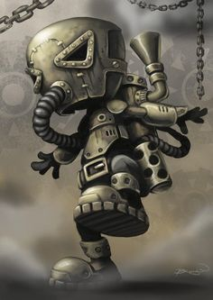 Steampunk robot. Great reference! I want to make this out of scrap metal.