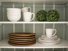 Making the Closet Pantry Prettier - http://akadesign.ca/making-the-closet-pantry-prettier/