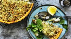 Dan Lepard's fish and fennel pie with herb crumbs.