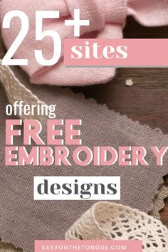 Get A List Of Sites Offering Free Embroidery Designs On 15 Sites That Offer Free Embroidery Designs Machine Embroidery Projects, Machine Embroidery Applique, Free Machine Embroidery Designs, Embroidery Fonts, Applique Designs, Embroidery Ideas, Embroidery Designs Free Download, Embroidery Monogram, Applique Patterns