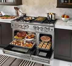 """BlueStar BSP488BNG 48"""" Pro-Style Gas Range with 8 Open Burners, PrimaNova 25,000 BTU Burners, PowR Convection Oven, Infrared Boiler and Interchangeable Griddle Charbroiler: Natural Gas"""