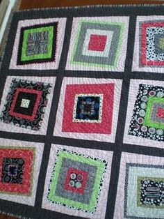Wonky Log Cabin quilt in purples and grey / neutrals. Description from pinterest.com. I searched for this on bing.com/images