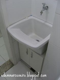 Edem Marceneiro: Armário sob o tanque de lavar roupas