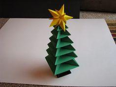 Arvore de natal artesanal de origami